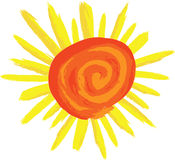 Swirly Sunshine Royalty Free Stock Photos