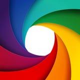 Swirly tęczy papier ablegruje tło Obrazy Royalty Free
