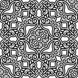 Swirly teste padrão preto e branco Imagem de Stock Royalty Free