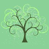 Swirly tree in spring Royalty Free Stock Image