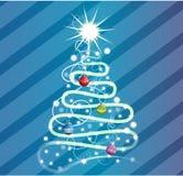 Swirly um projeto da árvore de Natal Foto de Stock