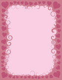 Swirly Valentine Border Royaltyfria Bilder