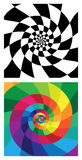Swirly vector backgrounds Royalty Free Stock Photos