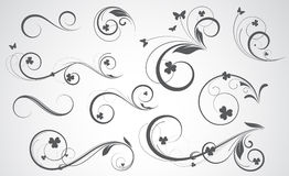 Swirly Vector Designs Royalty Free Stock Photos