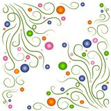 Swirly Vines Circles Patterns royalty free illustration