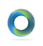 Swirly wave logo Stock Photos