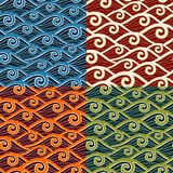 Swirly wave pattern Stock Photos