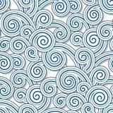 Swirly waves. Abstract swirly waves, seamless pattern Stock Photography