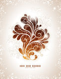 Swirly winter background. Elegant swirly background in warm colors Stock Photos
