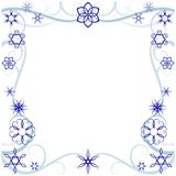 Swirly winter border. Decorative Vector Winter Border with stylized Snowflakes Royalty Free Stock Photography
