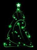 Swirly Xmas tree Stock Photo