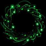Swirly Xmas wreath Stock Photography