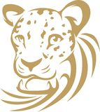 Swish Style Leopard. An illustration of a leopard drawn in swish style royalty free illustration