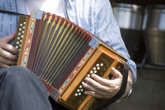 Swiss accordian. The Schwycerorgeli features at summer entertainment throughout Switzerland Stock Images
