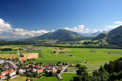 Agricultural landscape, Gruyere - Switzerland Royalty Free Stock Images