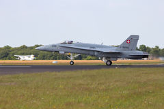 Swiss Air Force F-18 Hornet Royalty Free Stock Photo