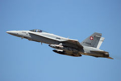 Swiss AIr Force F-18 Hornet stock images