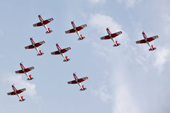 Swiss Air Force PC-7 Team Stock Images