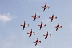 Swiss Air Force PC-7 Team Stock Photo