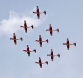 Swiss Air Force PC-7 Team Stock Photography