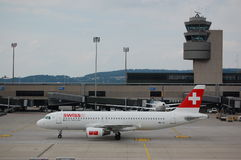 Swiss Airbus at Zürich Royalty Free Stock Photo