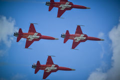 Swiss airforce team Stock Images