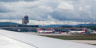 Swiss Airlines Aircrafts Royalty Free Stock Photos