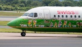 Swiss Airlines Avro 146 Royaltyfria Foton