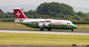 Swiss Airlines Avro 146 Stock Photo