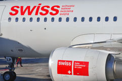 Swiss airlines Royalty Free Stock Photo