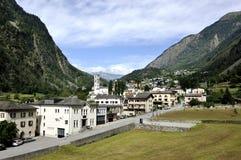 In Swiss Alpes Stock Photo