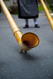 Swiss Alphorn Detail Royalty Free Stock Images