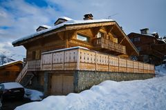 Swiss Alpine Chalet Royalty Free Stock Photo