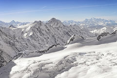Swiss alpine highland landscape panorama Royalty Free Stock Photography