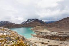 Swiss alpine landscape, mountain lake view Stock Image