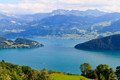 Swiss Alpine Landscape (Vierwaldstättersee) Stock Image