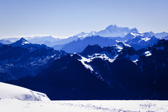 Swiss alpine panorama Stock Images