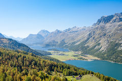 Swiss Alpine Panorama Royalty Free Stock Photography