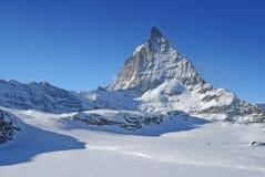 Swiss alpine peak Royalty Free Stock Photography