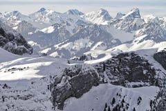 Swiss alpine peaks landscape panorama Royalty Free Stock Image