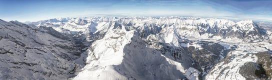 Swiss alpine peaks landscape panorama Stock Images