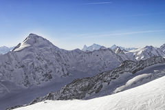 Swiss alpine peaks landscape panorama Royalty Free Stock Photography