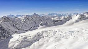 Swiss alpine peaks landscape panorama Stock Photography