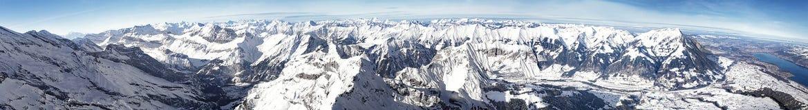 Swiss alpine peaks landscape panorama Royalty Free Stock Photo