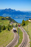 Swiss alpine railway Stock Photography