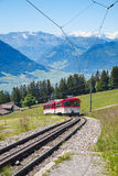 Swiss alpine railway Royalty Free Stock Photo