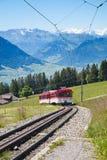 Swiss alpine railway Royalty Free Stock Photo