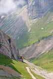 Swiss alpine railway Stock Photos