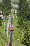 Swiss alpine railway Royalty Free Stock Photography