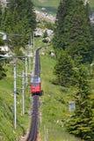Swiss alpine railway Royalty Free Stock Photography
